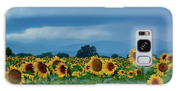Sunflowers Under A Stormy Sky Galaxy Case