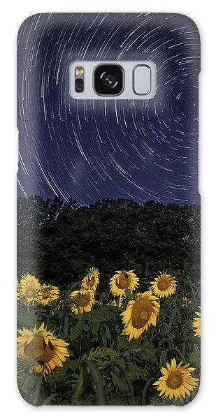 Sunflowers Under The Night Sky Galaxy Case