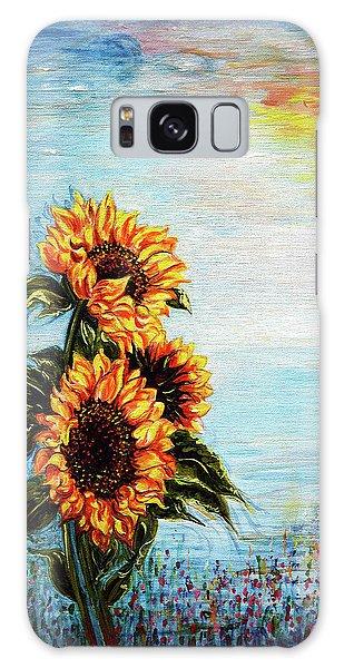 Sunflowers - Where Ocean Meets The Sky Galaxy Case