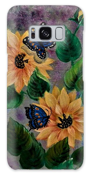Sunflowers With Butte Galaxy Case