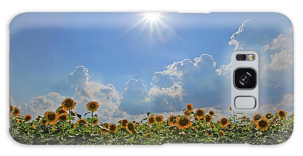 Sunflowers With Sun And Clouds 1 Galaxy Case