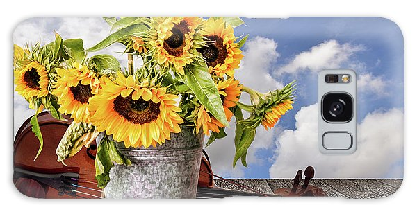 Sunflowers With Violin Galaxy Case