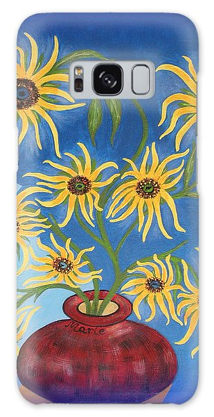 Sunflowers On Navy Blue Galaxy Case