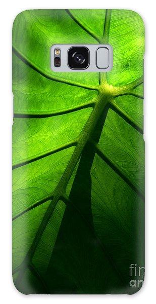 Sunglow Green Leaf Galaxy Case