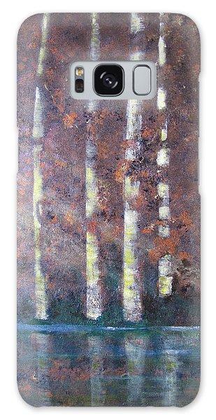 Sunlight And Birch Galaxy Case