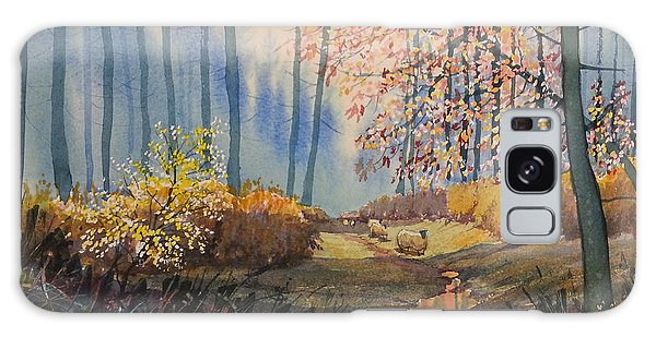 Sunlight And Sheep In Sledmere Woods Galaxy Case