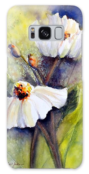 Sunlit Faces - Matilija Poppies Galaxy Case