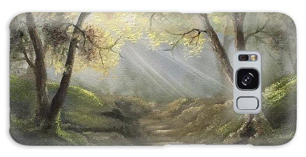 Sunlit Forrest  Galaxy Case