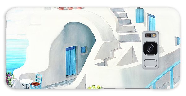 Sunlit In Santorini - Prints Of My Original Oil Painting Galaxy Case