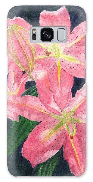Sunlit Lilies Galaxy Case