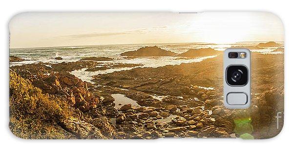 Stone Wall Galaxy Case - Sunlit Seaside by Jorgo Photography - Wall Art Gallery