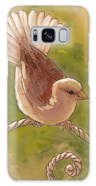Cottage Galaxy Case - Sunlit Sparrow by Tracie Thompson