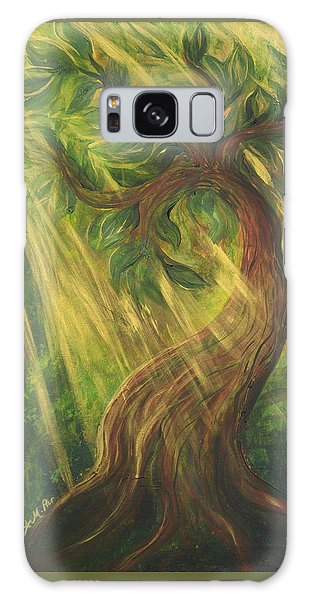 Sunlit Tree Galaxy Case