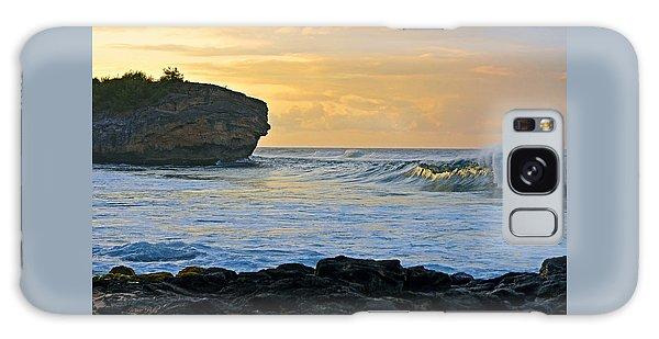 Sunlit Waves - Kauai Dawn Galaxy Case by Marie Hicks
