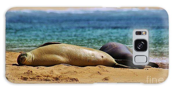 Sunning On The Beach In Hawaii Galaxy Case by Craig Wood