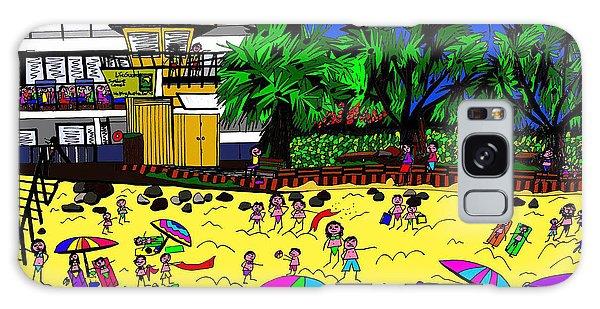Galaxy Case - Sunny Day At The Beach by Karen Elzinga