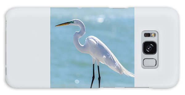 Galaxy Case featuring the photograph Sunny Egret by Steven Sparks