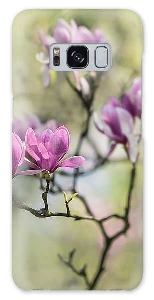 Sunny Impression With Pink Magnolias Galaxy Case