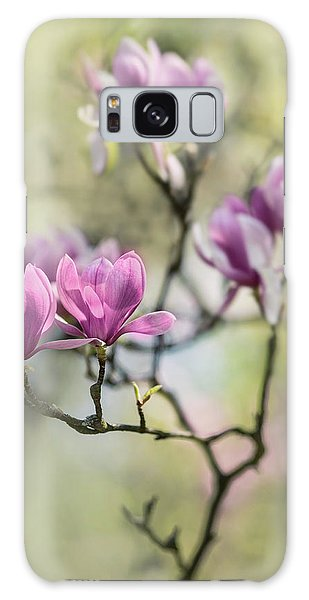 Sunny Impression With Pink Magnolias Galaxy Case