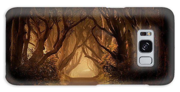 Sunny Morning In Dark Hedges Galaxy Case