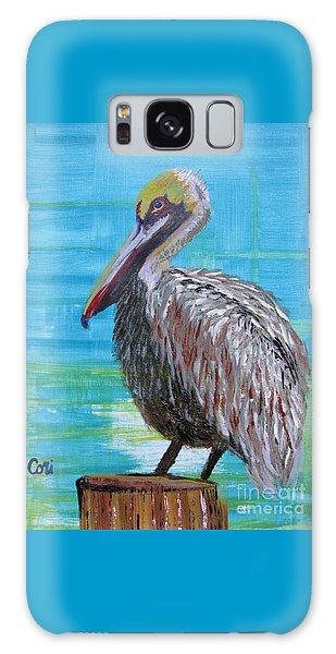 Sunny Pelican Day Galaxy Case
