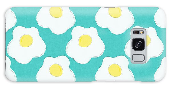 Eggs Galaxy Case - Sunny Side Up Eggs- Art By Linda Woods by Linda Woods