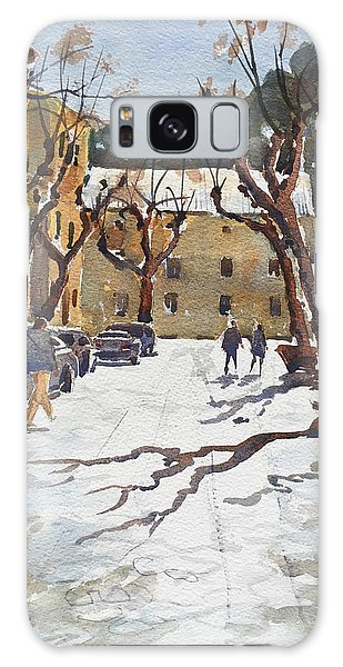 Galaxy Case featuring the painting Sunny Street, Valledemossa by David Gilmore