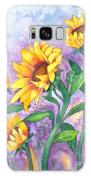 Sunny Sunflowers Galaxy Case by Kristen Fox