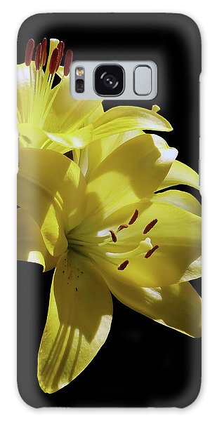 Sunny Yellow Lilies Galaxy Case