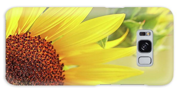 Galaxy Case featuring the photograph Sunny Yellow Sunflower by Jennie Marie Schell