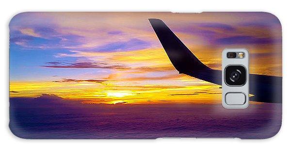 Sunrise Above The Clouds Galaxy Case