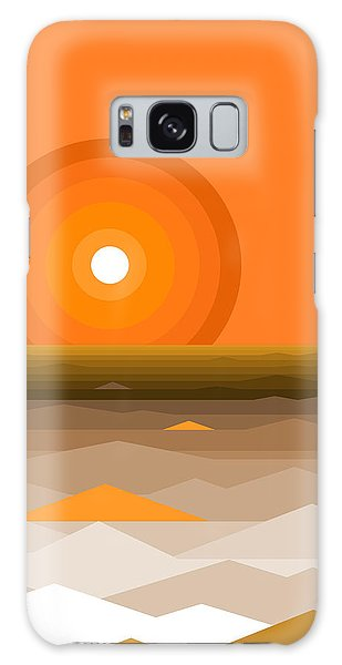 Sunrise Abstract In Orange Galaxy Case