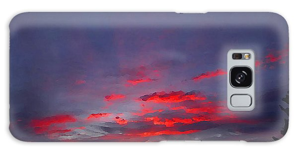Sunrise Abstract, Red Oklahoma Morning Galaxy Case