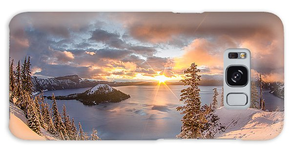 Sunrise After Summer Snowfall Galaxy Case by Greg Nyquist