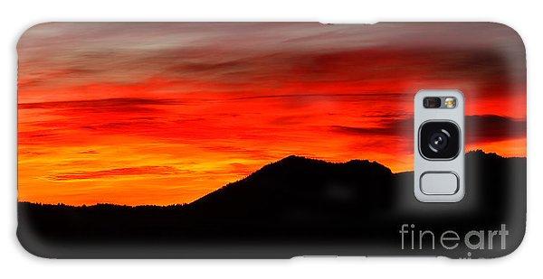Sunrise Against Mountain Skyline Galaxy Case by Max Allen