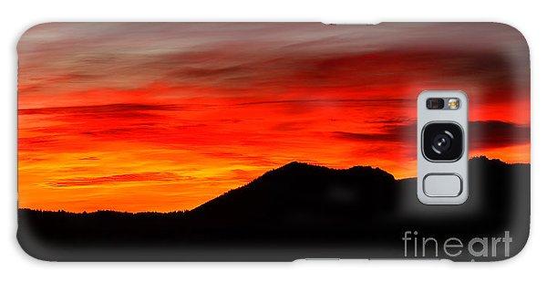 Sunrise Against Mountain Skyline Galaxy Case