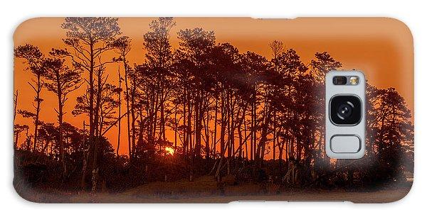 Sunrise Along A Tree Line Galaxy Case