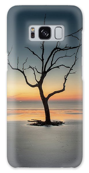 Sunrise And A Driftwood Tree Galaxy Case