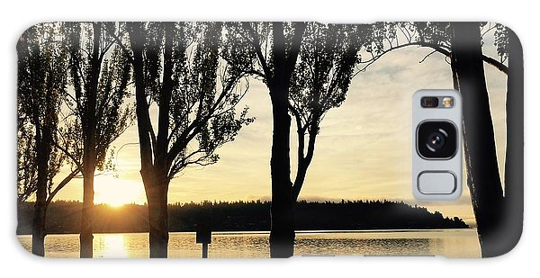 Sunrise And Silhouettes  Galaxy Case