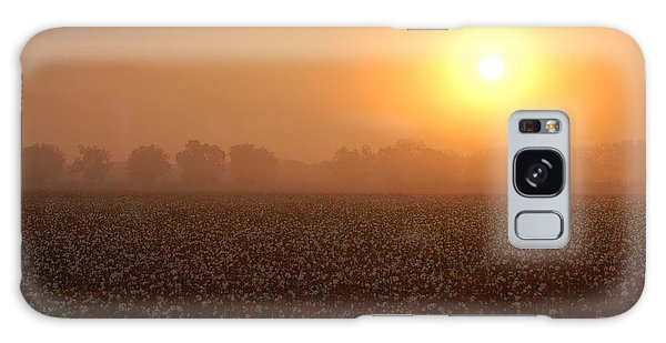 Sunrise And The Cotton Field Galaxy Case