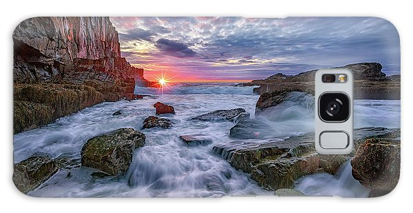 Sunrise At Bald Head Cliff Galaxy Case by Rick Berk
