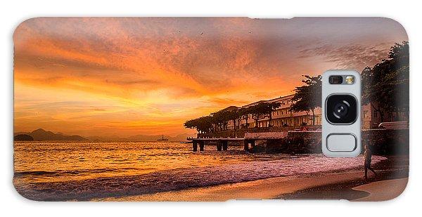 Sunrise At Copacabana Beach Rio De Janeiro Galaxy Case