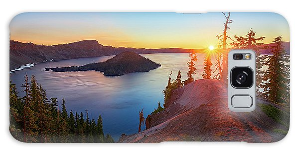 Sunrise At Crater Lake Galaxy Case