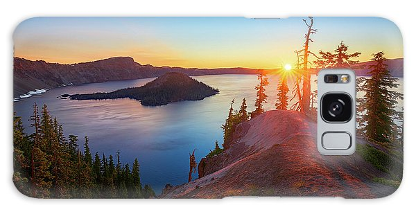 Sunrise At Crater Lake Galaxy Case