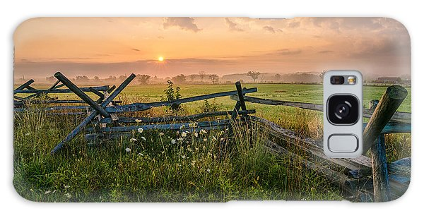 Sunrise At Gettysburg National Park Galaxy Case by Craig Szymanski