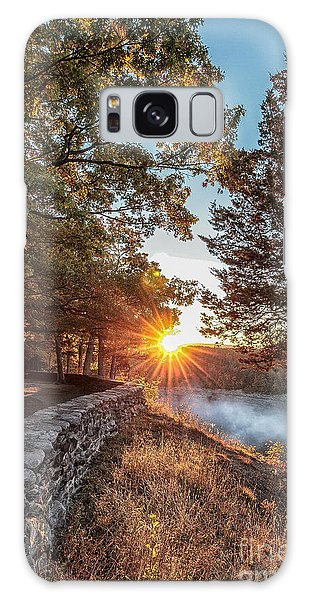 Sunrise At Great Bend Galaxy Case