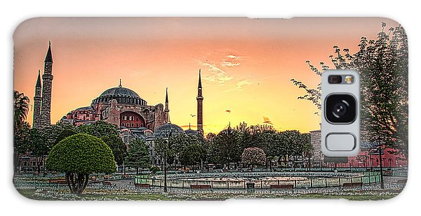 Sunrise At Hagia Sophia Galaxy Case
