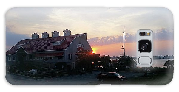 Sunrise At Hooper's Crab House Galaxy Case