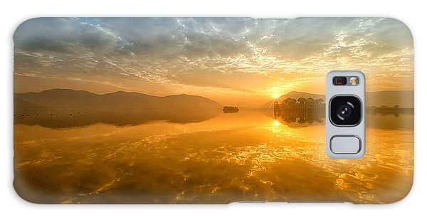 Sunrise At Jal Mahal Galaxy Case