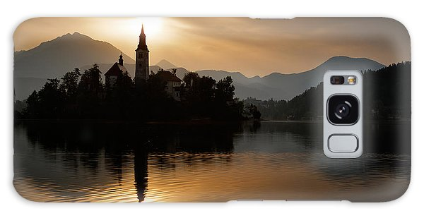 Sunrise At Lake Bled Galaxy Case by Ian Middleton